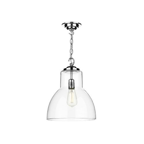 Upton 1 Light Pendant Chrome (Hand made, 7-10 day Delivery)